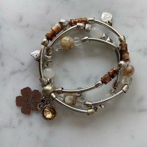 Charm multi layered bracelet